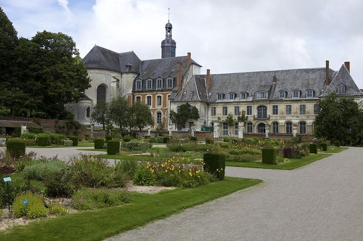 Abbaye de Valloires - Valloires Somme Jardin dessiné par  Gilles Clément.