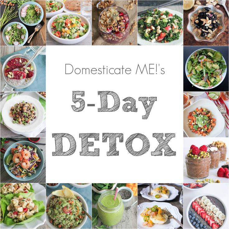 5-Day Detox Plan. Real food menus to make your feel lighter, brighter and more energized!
