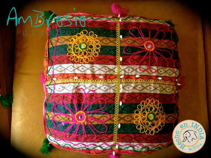Decorative Cushion Cover Handmade - Mirrored 18in x 18in $28.00