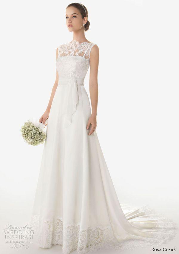 Rosa Clara 2013 Bermeo sleeveless wedding dress #illusion