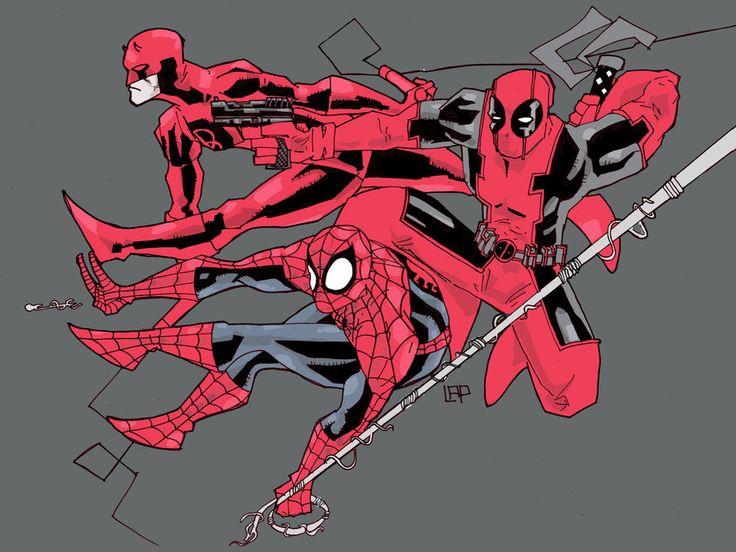 Spider-Man, Daredevil & Deadpool - Luke Parker a.k.a. future-parker