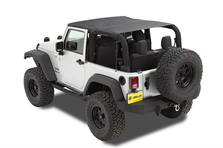 Bestop 52583-35 - Bestop® Header Safari Bikini® Top for 10-13 Jeep® Wrangler JK 2 Door - Quadratec