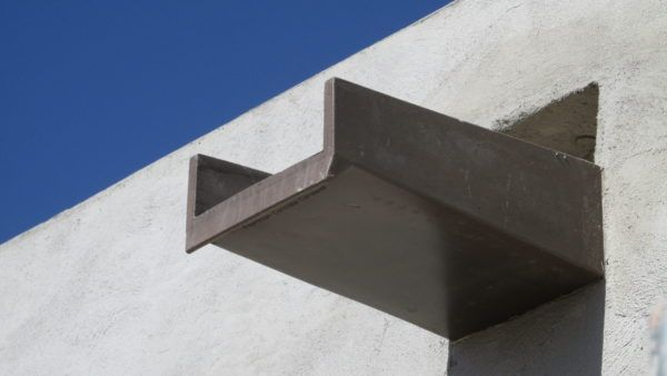Canales Roof Scuppers Fiberspan Concrete Elements Roof Wood Roof Concrete