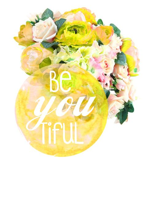 BeYOUtiful - YELLOW Wall Art from Artifax