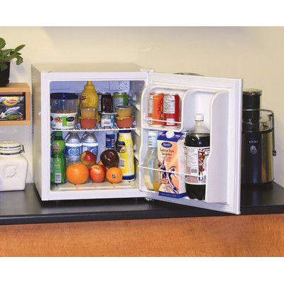 Koolatron Compact Refrigerator Size: 1.7 Cubic Feet, Color: White
