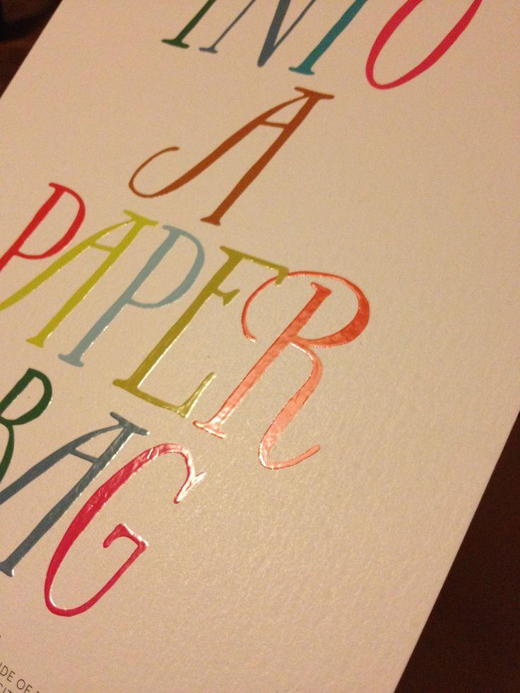 Boden mailer font, colours and spot varnish