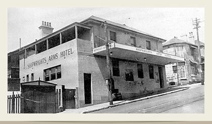 Shipwrights Arms Hotel in East Balmain.Built by John Bell in 1841.