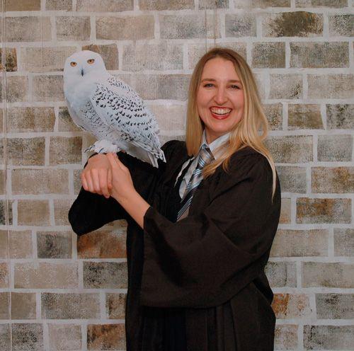 Hogwarts & Hedwig! DIY Harry Potter photo booth props tutorial http://tinyurl.com/p5n78e7