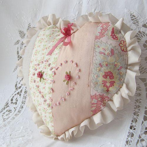 shabby #heart pillow