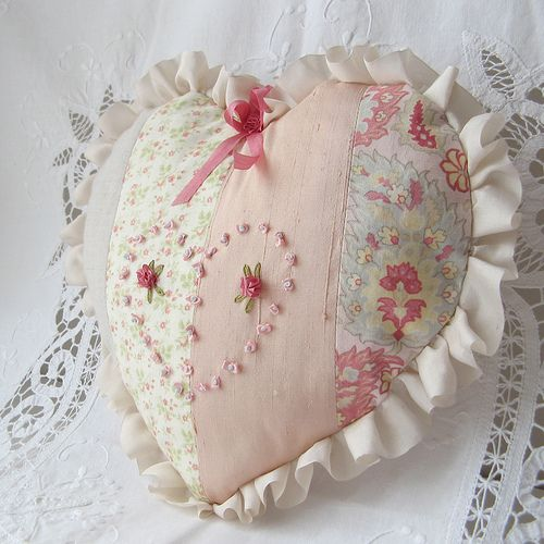 Shabby Chic Heart Pillows : Shabby, Heart pillow and Shabby chic on Pinterest