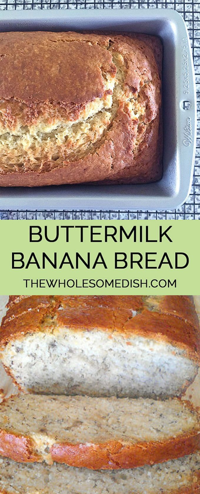 The Best Buttermilk Banana Bread The Wholesome Dish Recipe Buttermilk Banana Bread Best Banana Bread Banana Bread Recipes