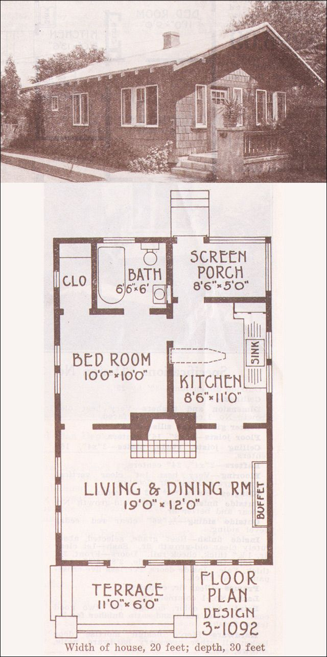1915 bungalow cottage hewitt lea funck company low Low pitch roof house plans