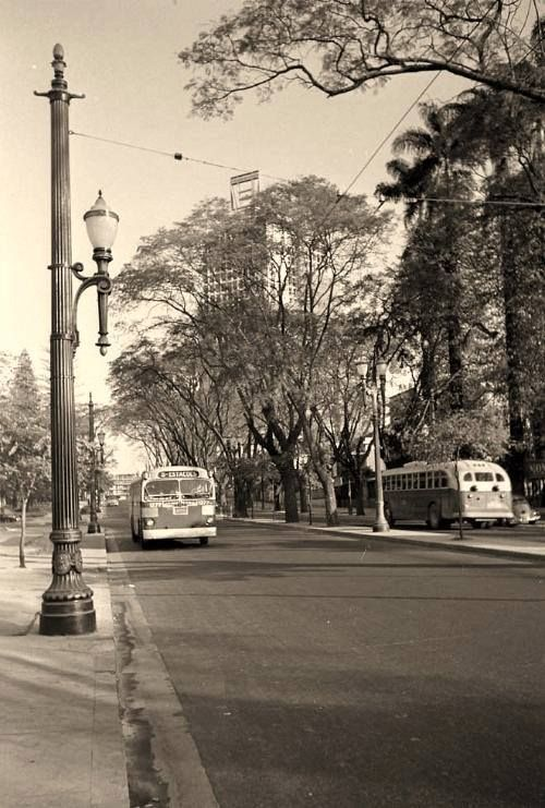 Sao Luiz avenue, circa 1960 Sao Paulo - Brazil