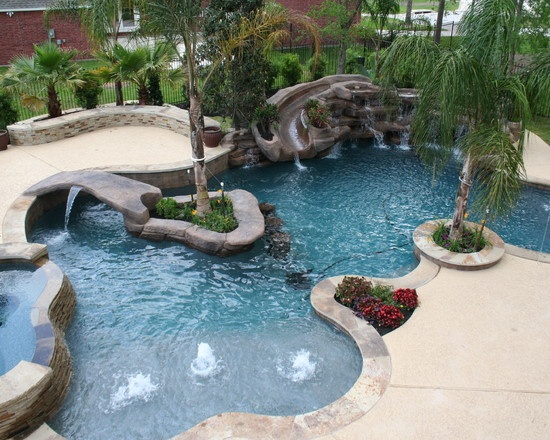 Jenson Tropical Pool Houston By Omega Pools Llc