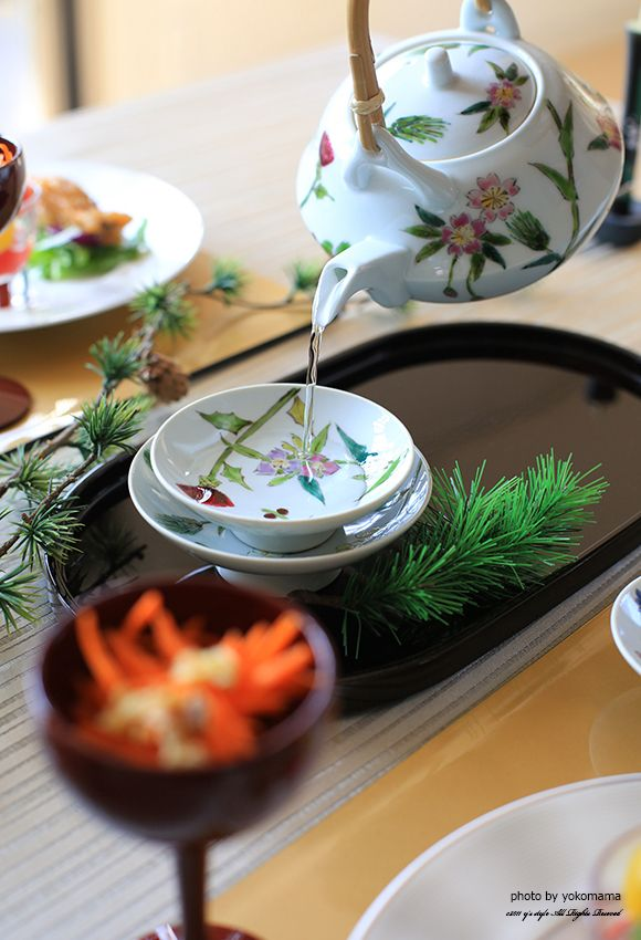 Japanese spiced sake served at New Year, Otoso お屠蘇