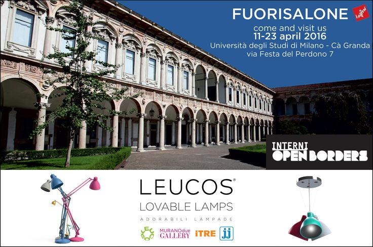 Come and visit us from 11 to 23 April and find out the novelties we have specially prepared for this long-awaited design event! ‪#‎OpenBorders‬ #Interni #Fuorisalone2016