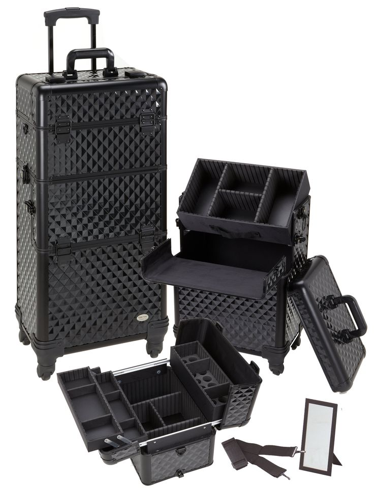 Best Rolling Cosmetic Case Images On Pinterest Rolling Makeup - Aluminum trolley case pro rolling makeup cosmetic organizer