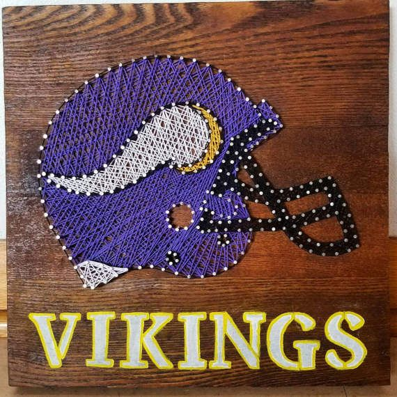 Hey, I found this really awesome Etsy listing at https://www.etsy.com/listing/517660435/minnesota-vikings-helmet-string-art