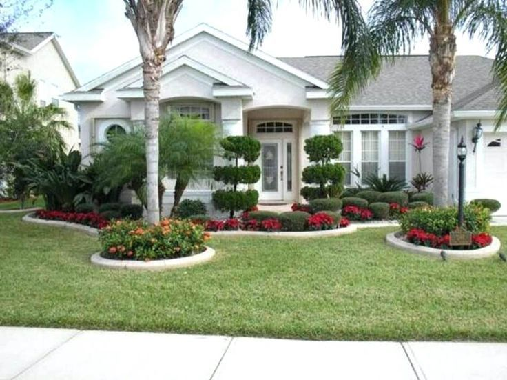 Palm Tree Front Yard Simple Front Yard Landscape Design With Palm
