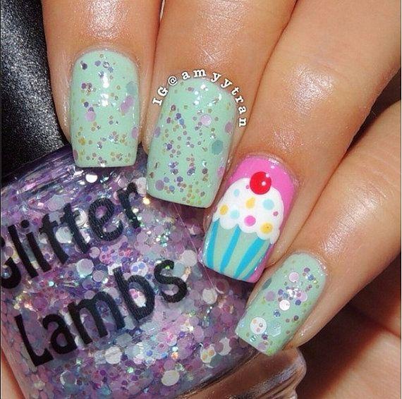 Cotton Candy Glitter Nails: 21 Best Cotton Candy Bubble Bath Glitter Lambs Nail Polish