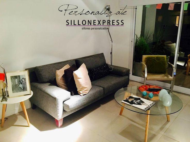 Mirá como quedó el Sofá Ginevra en la casa de Mati! Nos encanta! > Comprá vos también con CONFIANZA, tu sillón personalizado al MEJOR PRECIO! #SILLON #SOFA #SILLONEXPRESS #SILLONES #TELA #FABRICA