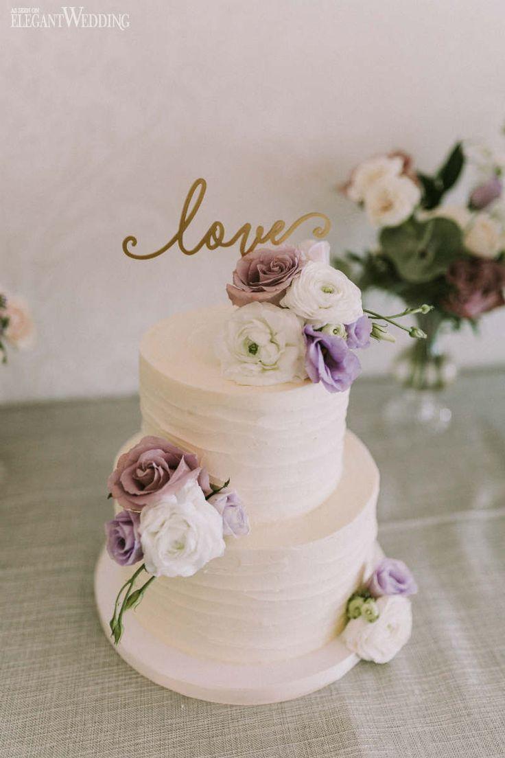 Echte Blume Hochzeitstorte, lila Blume Hochzeitstorte, Buttercreme Hochzeitstorten …   – Wonderful Weddings