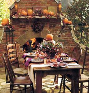 fall decorations for outside | Outdoor Living Blog Outdoorlicious Thanksgiving Outdoor Decor