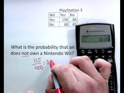 6. Probabilities Contingency Table - YouTube