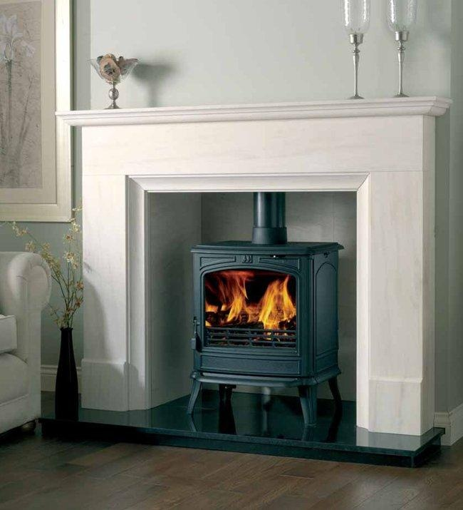Chatsworth Limestone Surround with Chamber for either a stove or firebasket.