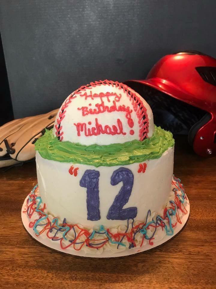 Vanilla Baseball Cake Gluten Free Cakes Birthday