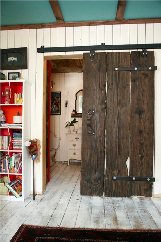 Sliding barn door for our dream double walk in closet!