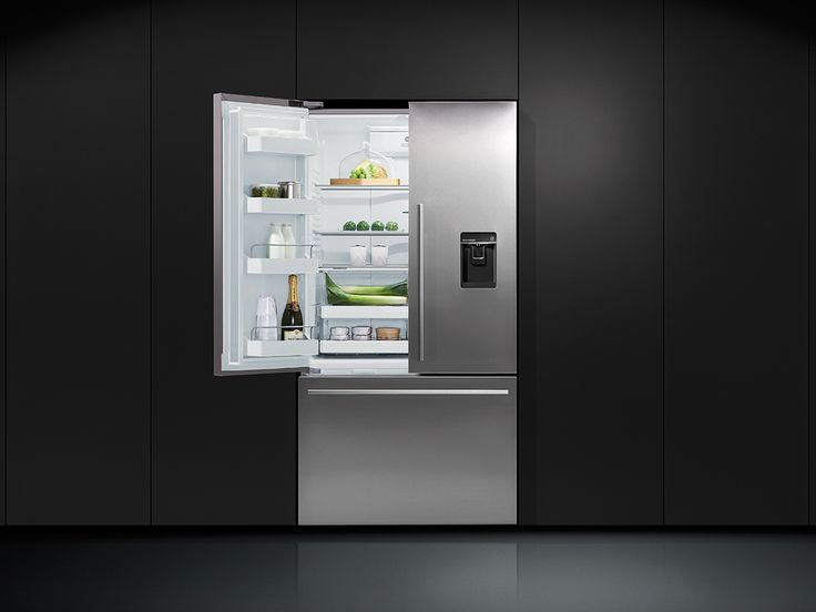 Fisher & Paykel French Door Fridges. French Door Refrigerators have been designed to maximise space as well as access. French Door fridges bring theatre into the kitchen with unobstructed access to wide-open shelf spaces. Below, a spacious full-extension drawer and storage bins provide ergonomic solutions for freezer items.