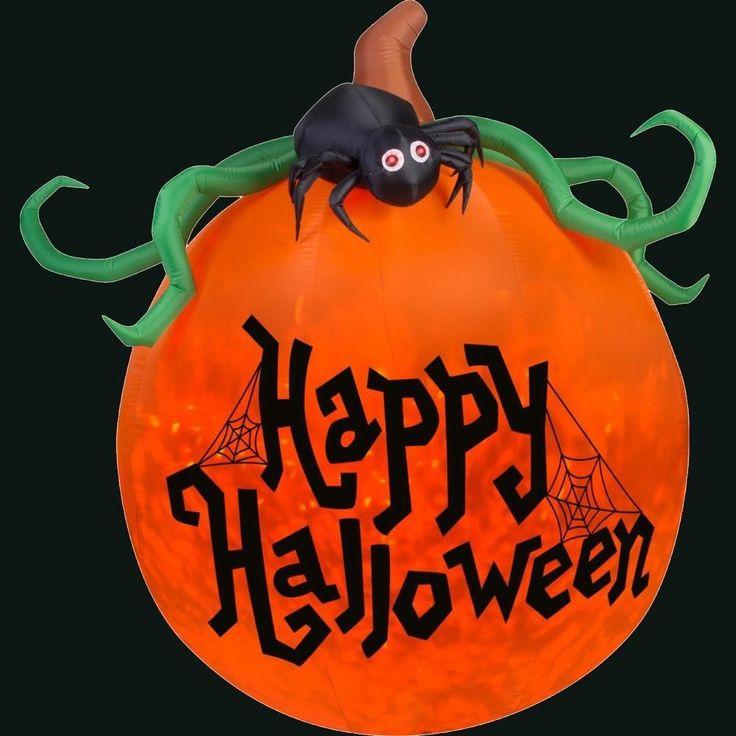 Halloween House Decoration Airblown Inflatable Projection Kaleidoscope Happy New #halloween
