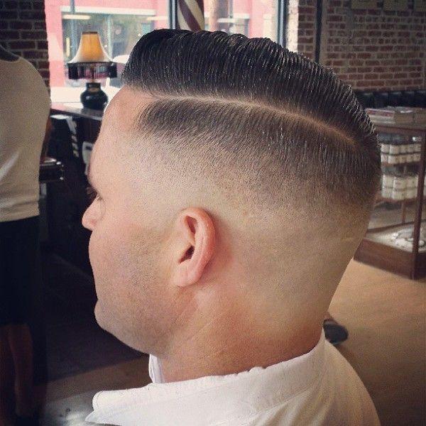 Straight Razor Fade Haircuts Shaved Nape High Fade Slicked