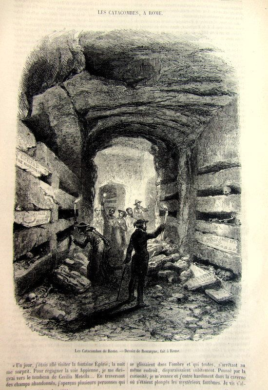 Curious strange antique catacombs in Rome by LyraNebulaPrints, $22.00