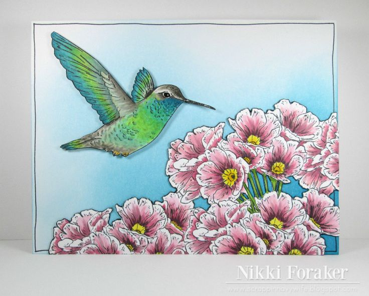 Hummingbird Hummingbird, Copic coloring, Tapestry