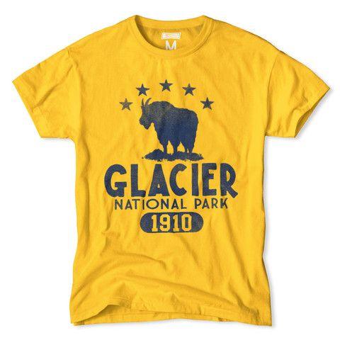 Glacier National Park T-Shirt | Tailgate Clothing | Frank Ozmun Graphic Design