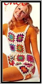 """Here's a pattern for these """"Groovy Crochet Shortalls"""" from 1971!"""