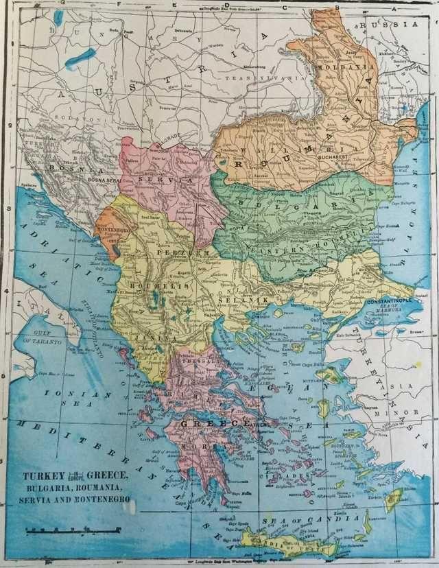1902 Map of the Balkans 74 best