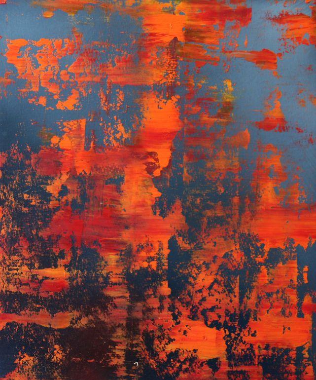 "Koen Lybaert; Oil 2014 Painting ""abstract N° 976"" loved!!!!!"