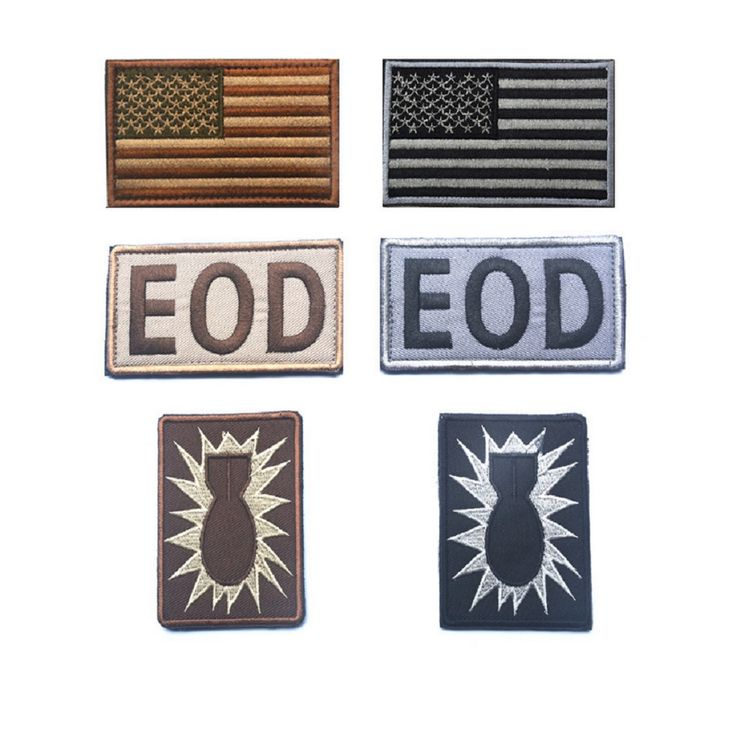 Two or three piece a set 3D Embroidery patches American Flag patch EOD Tactical patch Bomb disposal chapter USARMY patches #Affiliate