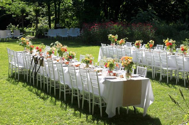 Pretty tables for reception
