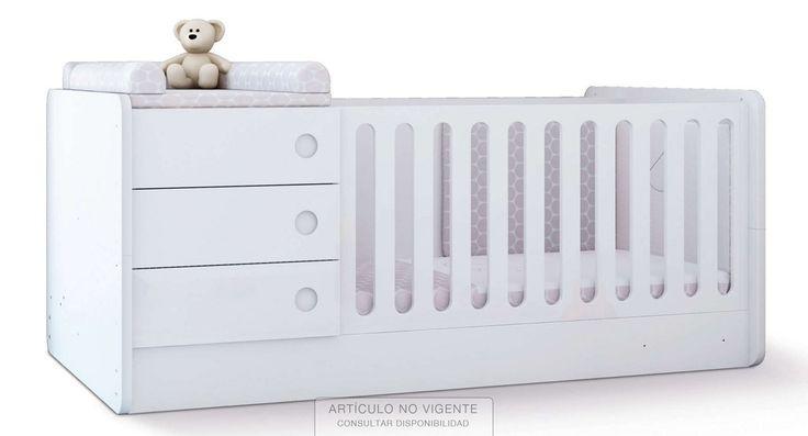 Originales y modernas literas blancas con escritorio de niños