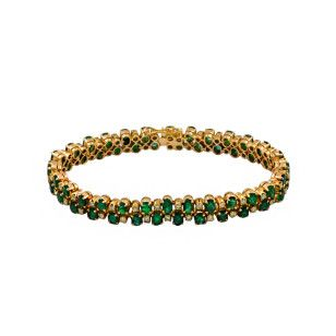 #armband #smaragd #gelbgold #585gold #schmuckkontor #bonn #koblenz #siegburg