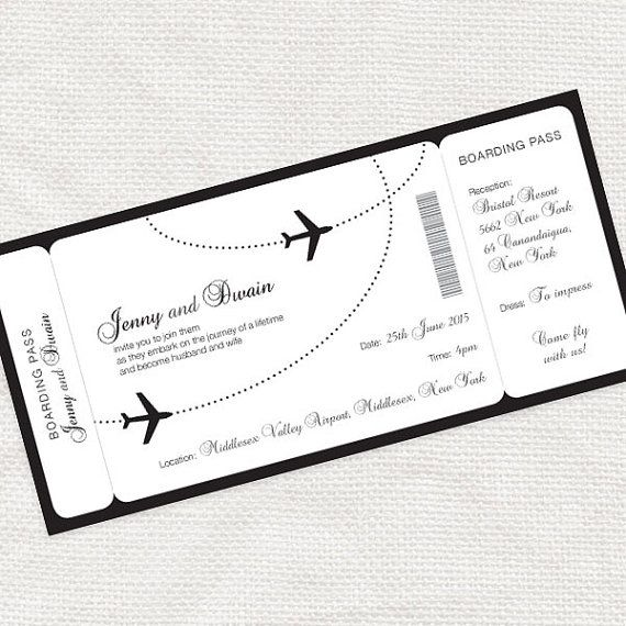 come fly with me boarding pass wedding invitation von idoityourself, $17.00