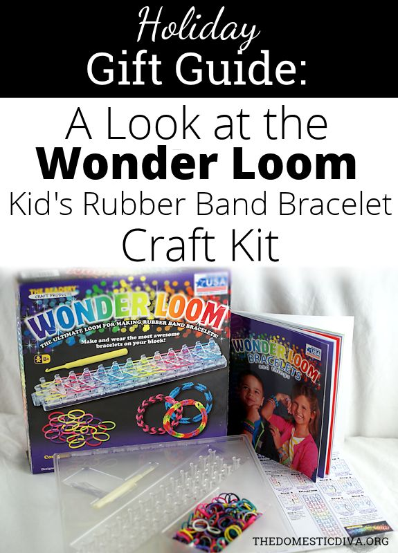 Holiday Gift Guide: Wonder Loom Rubber Band Bracelet Craft Kit for Kids