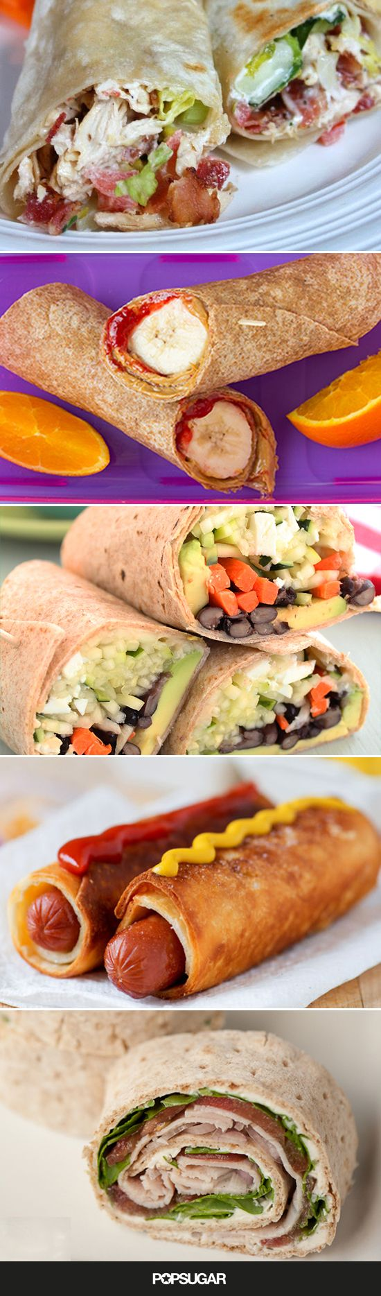 These 16 wrap sandwich recipes are simple, adaptable, and best of all — easy for little hands to eat so they come home from school without half of their lunch on their (brand-new) shirt.