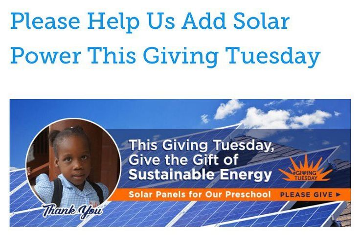 An anonymous donor has offered to MATCH all contributions to The Mortel High Hopes for Haiti Foundation this #GivingTuesday!  Please donate and help us add sustainable power to our preschool in Haiti. Thank you! Link in Bio. . . . . #donorschoose #giveback #nonprofit #haiti #helphaiti #haitian #education #helpothers #children #educationfirst #solarpanels #cleanenergy #green #generator #preschool #thankyou  @energy @solarpanelsolutions