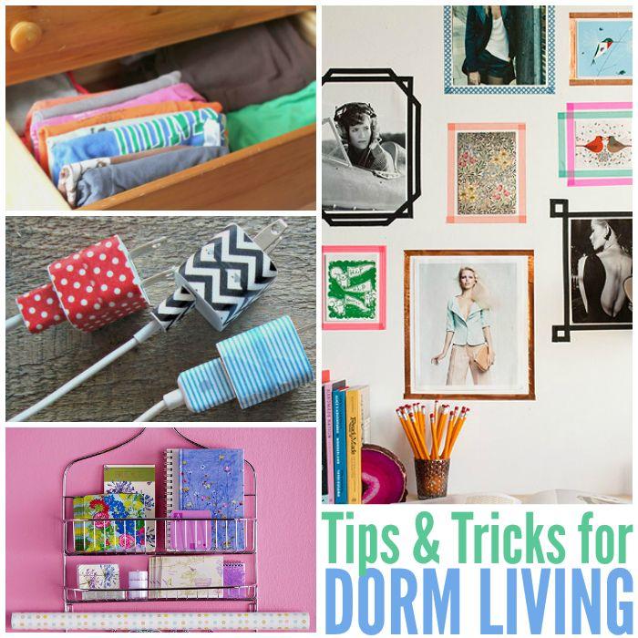 17 Best images about Tips & Tricks on Pinterest  Dorm  ~ 214741_Dorm Room Diy Hacks