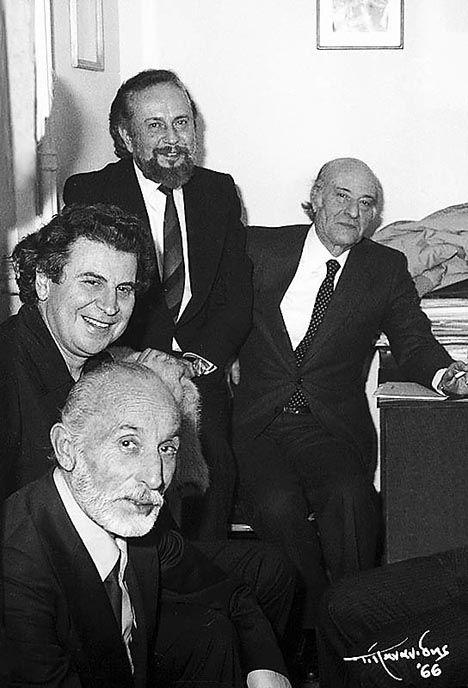 """""""AXION ESTI """" 1974 !!!!!                                                      Manos Katrakis,  Mikis Theodorakis,  Yiannis Ritsos &  Odysseas Elytis ......."""